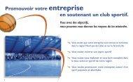 Promouvoir votre entreprise en soutenant un club sportif. - Quomodo