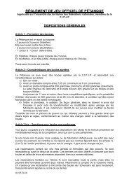 reglement petanque - Quomodo