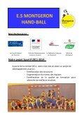 E.S MONTGERON HAND-BALL - Quomodo - Page 4