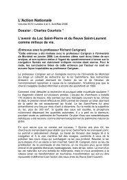 L'avenir du Lac Saint-Pierre et du fleuve Saint-Laurent comme ...