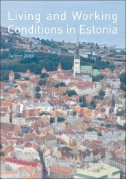 Living and Working Conditions in Estonia