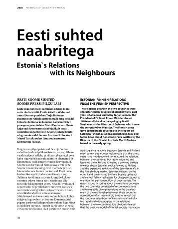 Eesti suhted naabritega - Välisministeerium