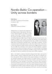 Nordic-Baltic Co-operation – Unity across borders