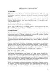Välissuhtlemisseaduse seletuskiri - Välisministeerium