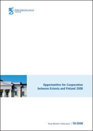 Opportunities for Cooperation between Estonia and ... - Valitsus