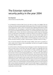 The Estonian national security policy in the year 2004