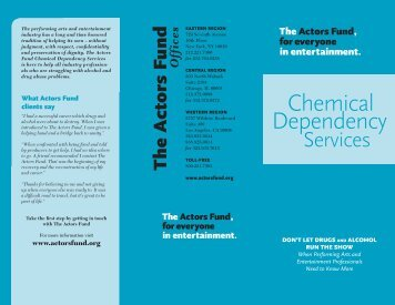 Chemical Dependency for Professionals - The Actors Fund