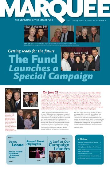 Fall 2009 - The Actors Fund