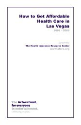 How to Get Affordable Health Care in Las Vegas - The Actors Fund