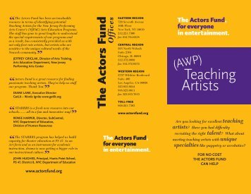 Teaching Artists - The Actors Fund