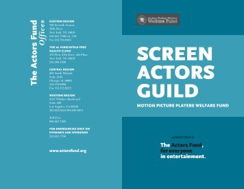 SAG Brochure.indd - The Actors Fund