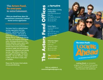 Looking Ahead - The Actors Fund