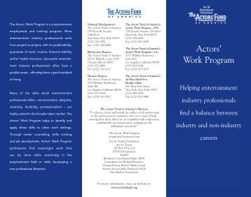 nys brochure (Page 1) - The Actors Fund
