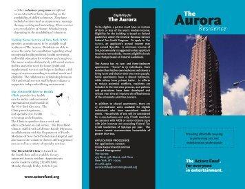 Aurora - The Actors Fund