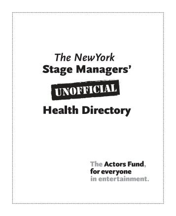 oral surgeons - The Actors Fund
