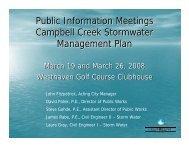Public Information Meetings Campbell Creek ... - City of Oshkosh