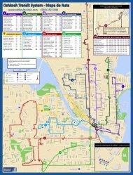 Oshkosh Transit System - Mapa de Ruta - City of Oshkosh