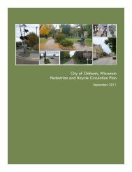 City of Oshkosh, Wisconsin Pedestrian and Bicycle Circulation Plan