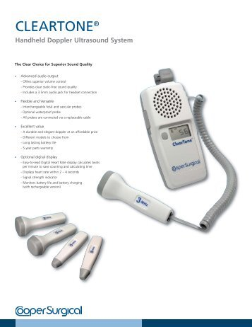 CLEARTONE™ Handheld Doppler Ultrasound ... - CooperSurgical
