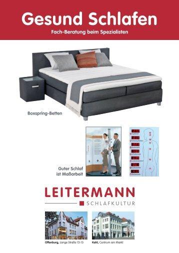 Gesund Schlafen - Bettenhaus Leitermann