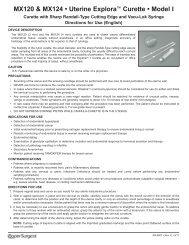 MX120 & MX124 • Uterine Explora™ Curette ... - CooperSurgical