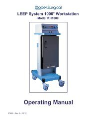 LEEP System 1000® Workstation Operating ... - CooperSurgical