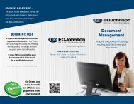 See our Document Management brochure - EO Johnson