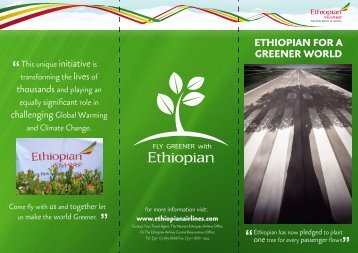 Download our Fly Greener Brochure - Ethiopian Airlines