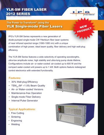 YLR-SM Brochure - IPG Photonics