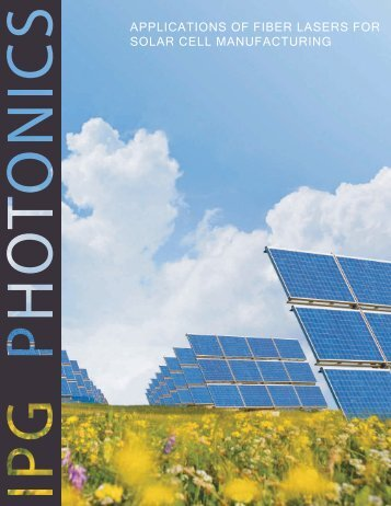 Applications of Fiber Lasers for Solar Cell ... - IPG Photonics