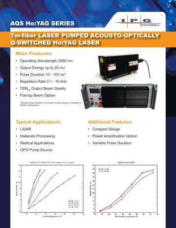 Tm-fiber LASER PUMPED ACOUSTO-OPTICALLY ... - IPG Photonics