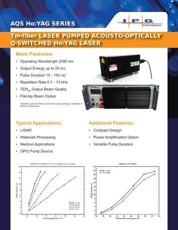 Tm-fiber LASER PUMPED ACOUSTO-OPTICALLY ... - IPG Photonics