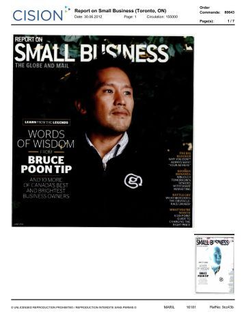 Report on Small Business (Toronto, ON) - Lise Watier