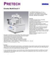 Erweka Multicheck - Pretech Instruments