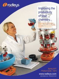 Improving the productivity of your chemistry... - Pretech Instruments