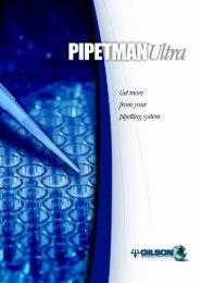 294 Pipetman Ultra Brochure - Gilson