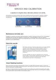 SERVICE AND CALIBRATION - Pretech Instruments