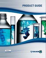 Gilson Product Guide (PDF) - John Morris Scientific