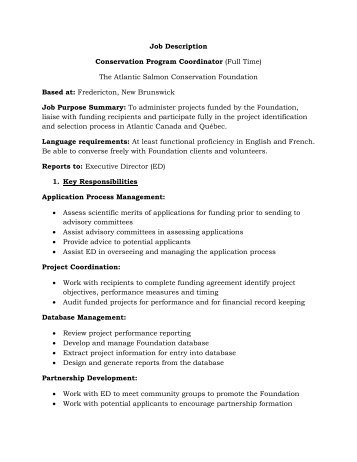 Job Description Program Coordinator One By One Seattle Wa