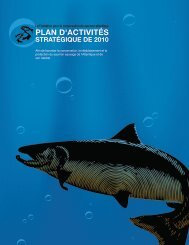 Plan d'affaires annuel 2010 - The Atlantic Salmon Conservation ...