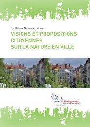 Visions et propositions citoyennes sur la nature en ville - Grand Lyon