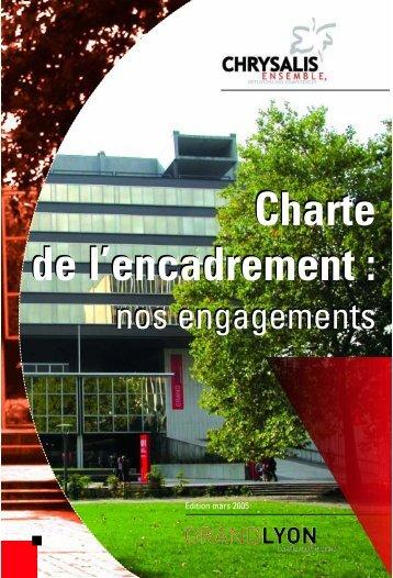 Charte de l'encadrement : Charte de l'encadrement : - Grand Lyon