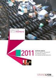 Rapport annuel sur le prix et la qualité du service ... - Grand Lyon