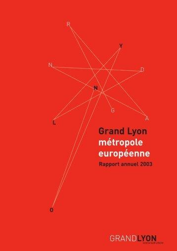 Rapport d'activités 2003 - pdf - Grand Lyon