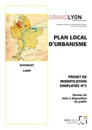 PLAN LOCAL D'URBANISME - Grand Lyon