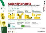Calendrier 2013 - Grand Lyon