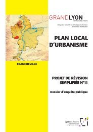 PLAN LOCAL D'URBANISME (PLU) de la ... - Grand Lyon
