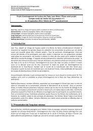 1 / Introduction 2 / Présentation de l'esquisse retenue - Grand Lyon