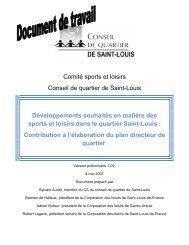 Comité sports et loisirs Conseil de quartier de Saint-Louis ...
