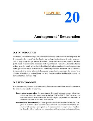 CH-20 Aménagement / Restauration